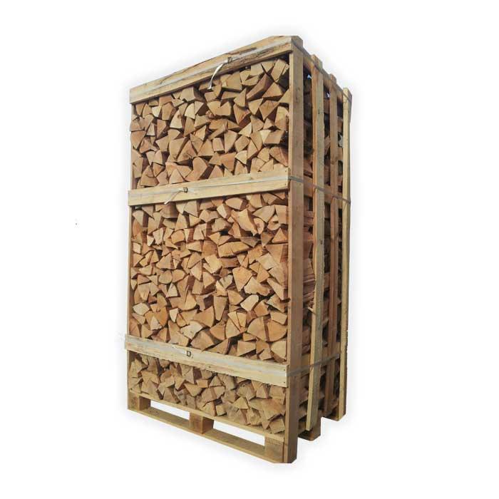 2m3 pallet kiln dried oak 25cm logs